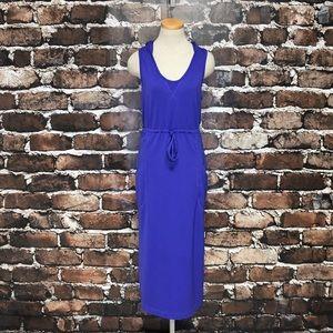 Athleta Dress Sleeveless Hood Pockets Purple Large